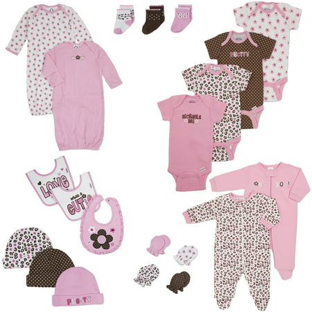 Gerber Newborn Girls 21 Piece Essential Layette Set