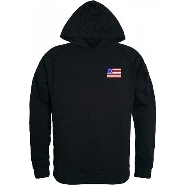 RapDom Betsy Ross 1 Graphic Mens Pullover Hoodie [Black - XL]