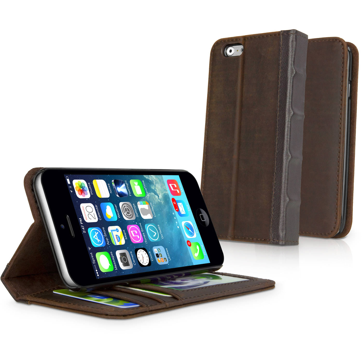 BoxWave Classic Book Case for Apple iPhone 6/6s