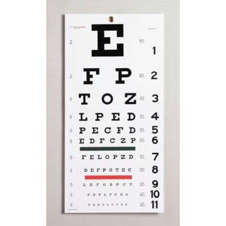 Snellen Eye Chart Item Number 08502ea Walmart