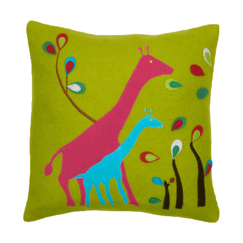Amity Home Giraffe Wool Felt Throw Pillow