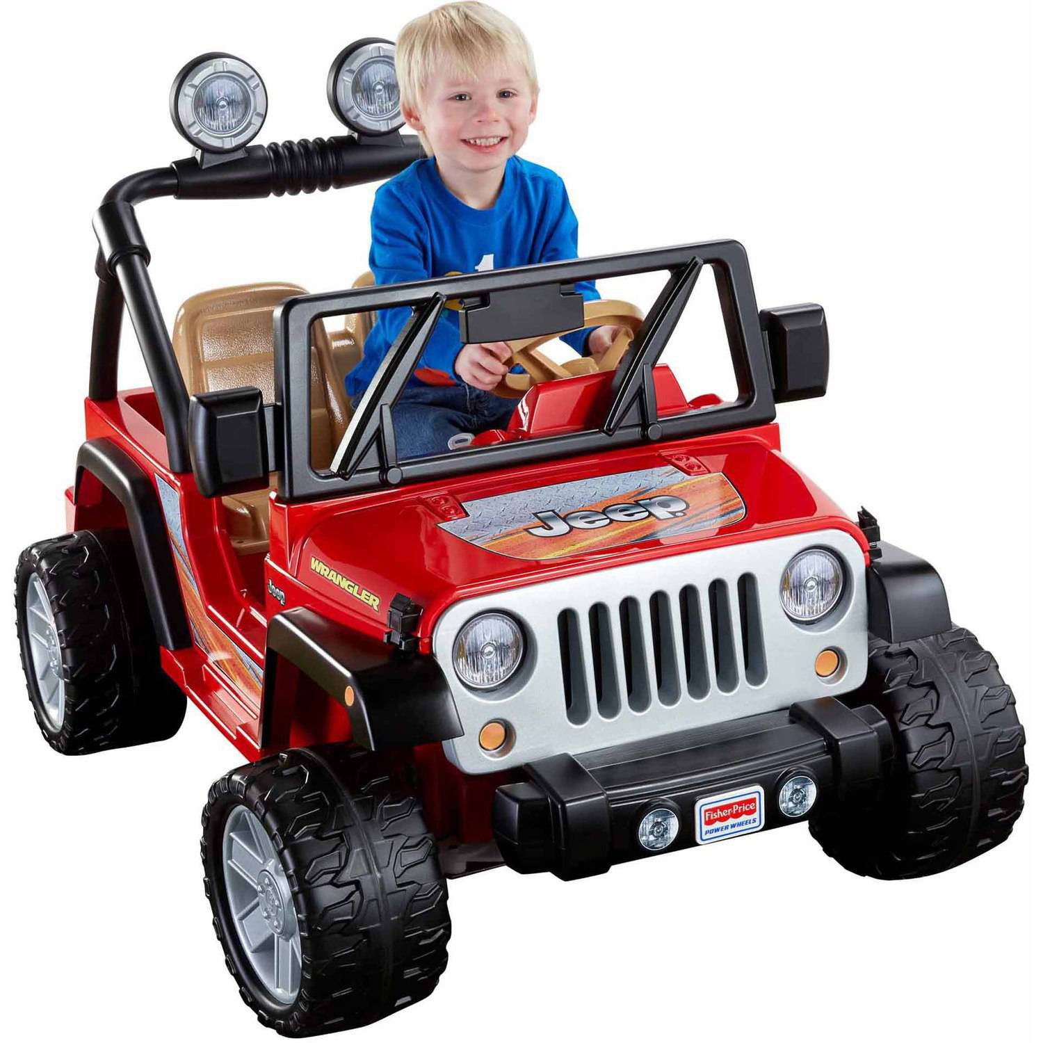 Fisher Price Power Wheels Jeep Wrangler 12-Volt Battery-Powered Ride-On, Red by Fisher-Price
