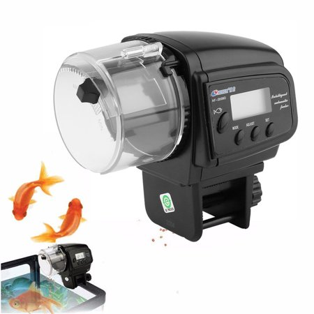 Adjustable aquarium timer fish tank pond automatic food for Automatic fish feeder walmart