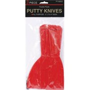 Gam Paint Brushes 3 Piece Plastic Putty Knife Set  PT05633 - Pack of 24