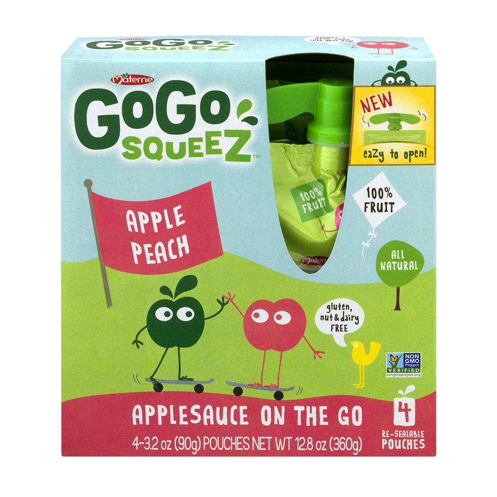 GoGo Squeez Applesauce On The Go Apple Peach - 4 CT