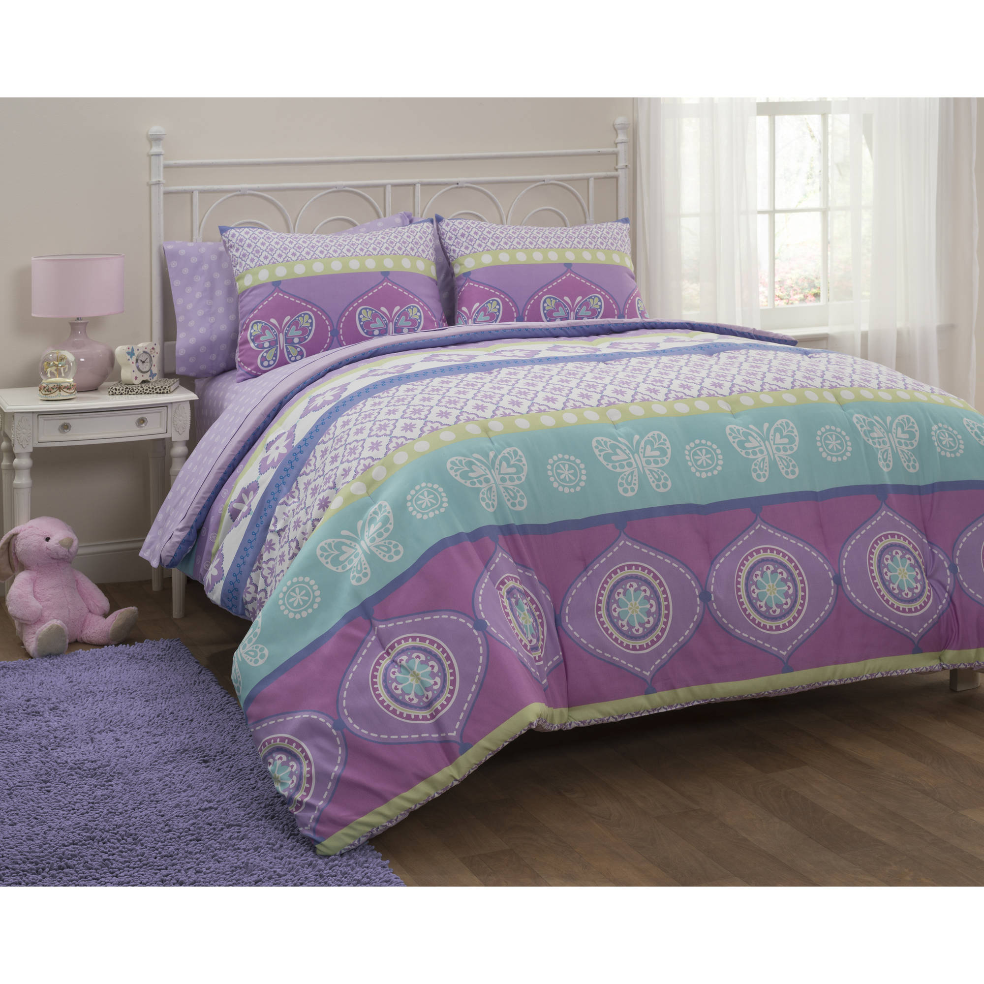 Mainstays Kids Boho Princess Bed in a Bag Bedding Set by Idea Nuova