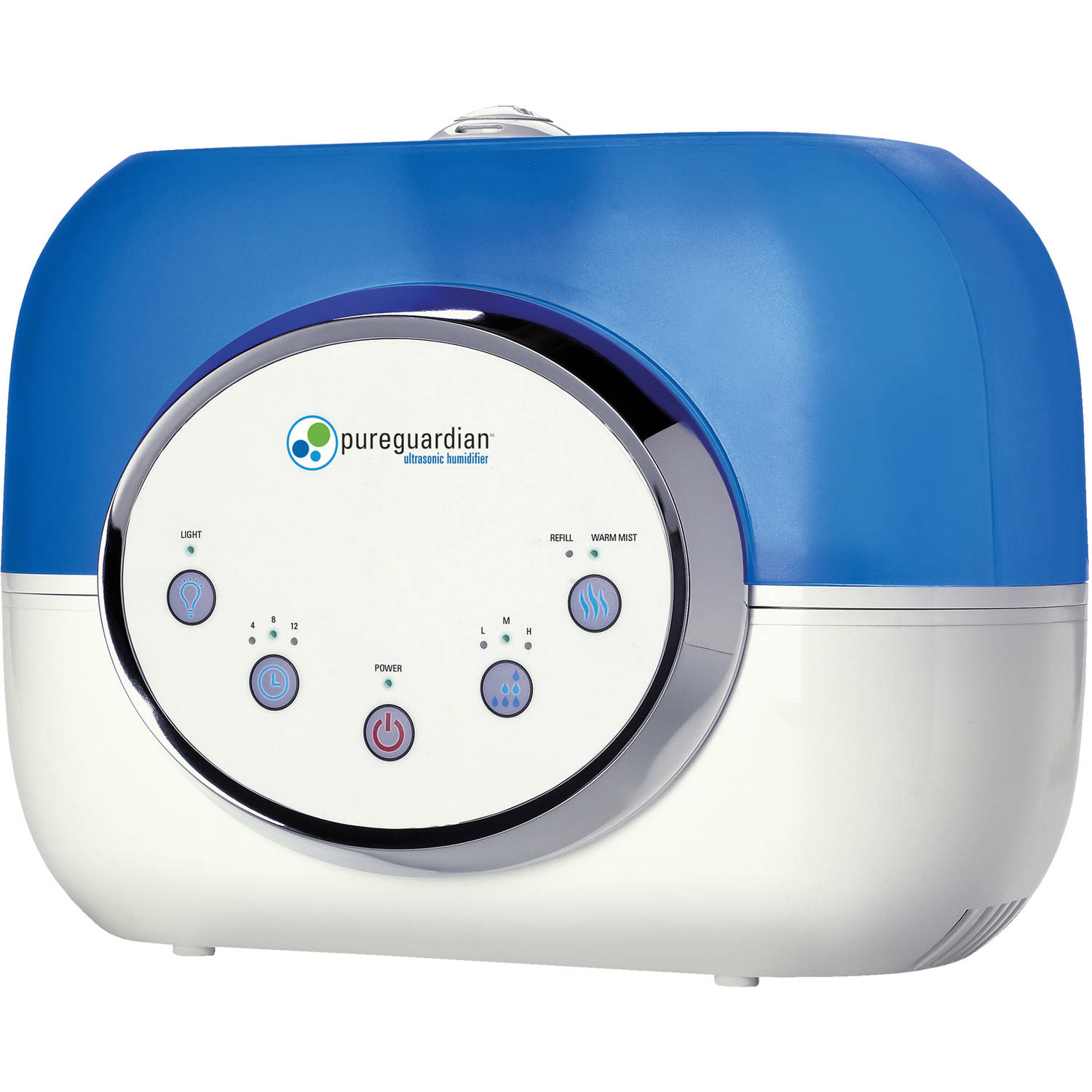 PureGuardian H4610 120-Hour Ultrasonic Warm and Cool Mist Humidifier, 2-Gallon