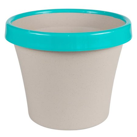 Bloem TT1235-27 12 in. Terra Two Tone Planter, Taupe with Calypso - image 1 of 1