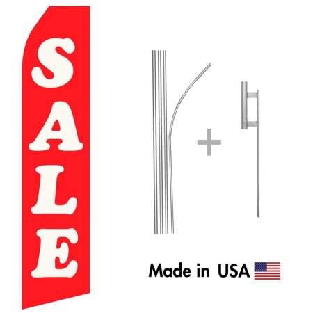 Sale Econo Flag | 16ft Aluminum Advertising Swooper Flag Kit with Hardware