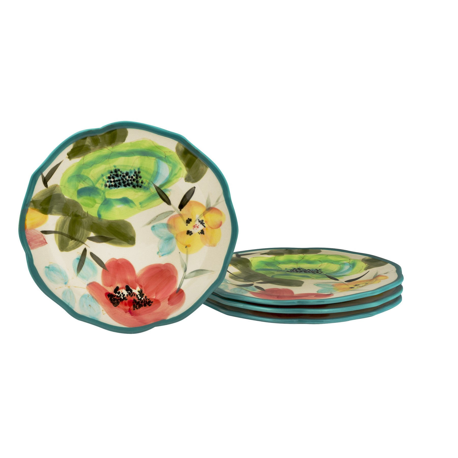 The Pioneer Woman Vintage Bloom Salad Plates - 4 PK, 4.0 PACK