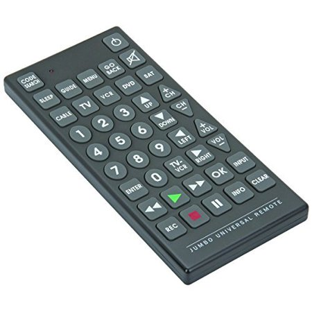 8 in 1 Jumbo Universal Remote - Control up to 8 Devices - Tv, Dvd, Cable, Satelite, VCR - image 1 de 1
