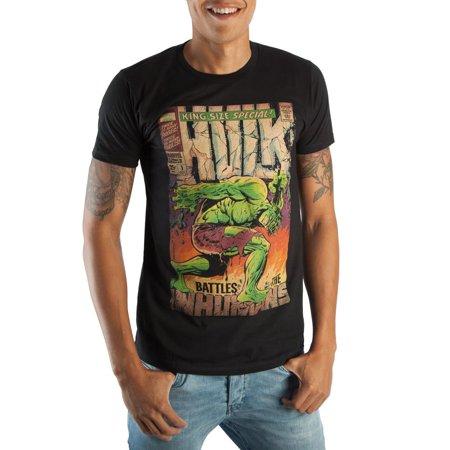 Hula Supplies (Marvel Comics Incredible Hulk Battles The Inhumans Collectors Box Men's Black Tee Shirt T-Shirt - Reusable Corrugated)