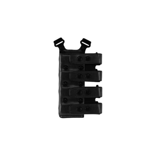 Galco Quad Magazine Carrier, Ambidextrous, Black Staggered .40 Polymer Pistol by