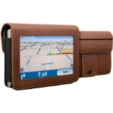 DLO DLG24199-17 17 4.3-inch Travelfolio GPS Leather Case Brown