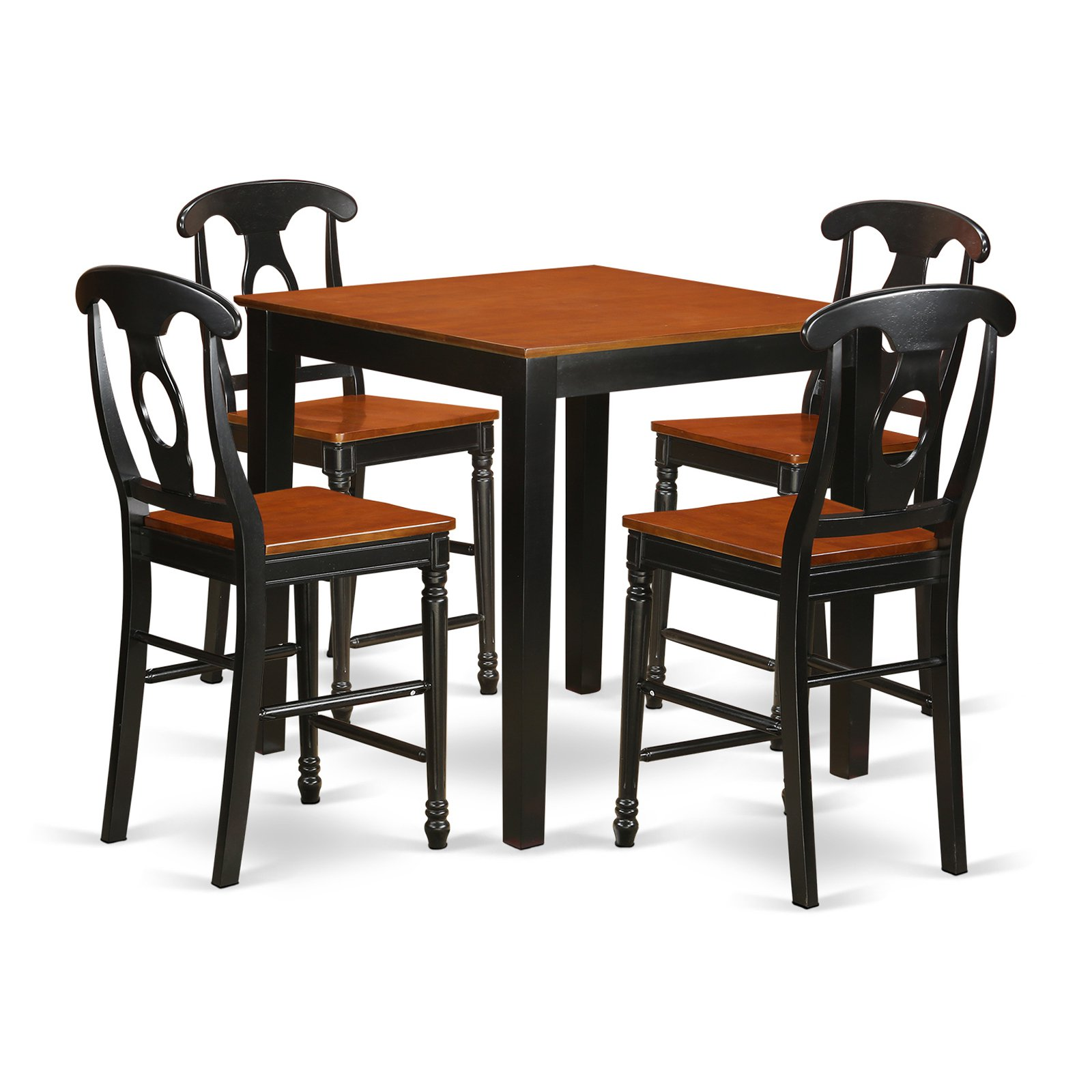 East West Furniture Pub 5 Piece Keyhole Dining Table Set