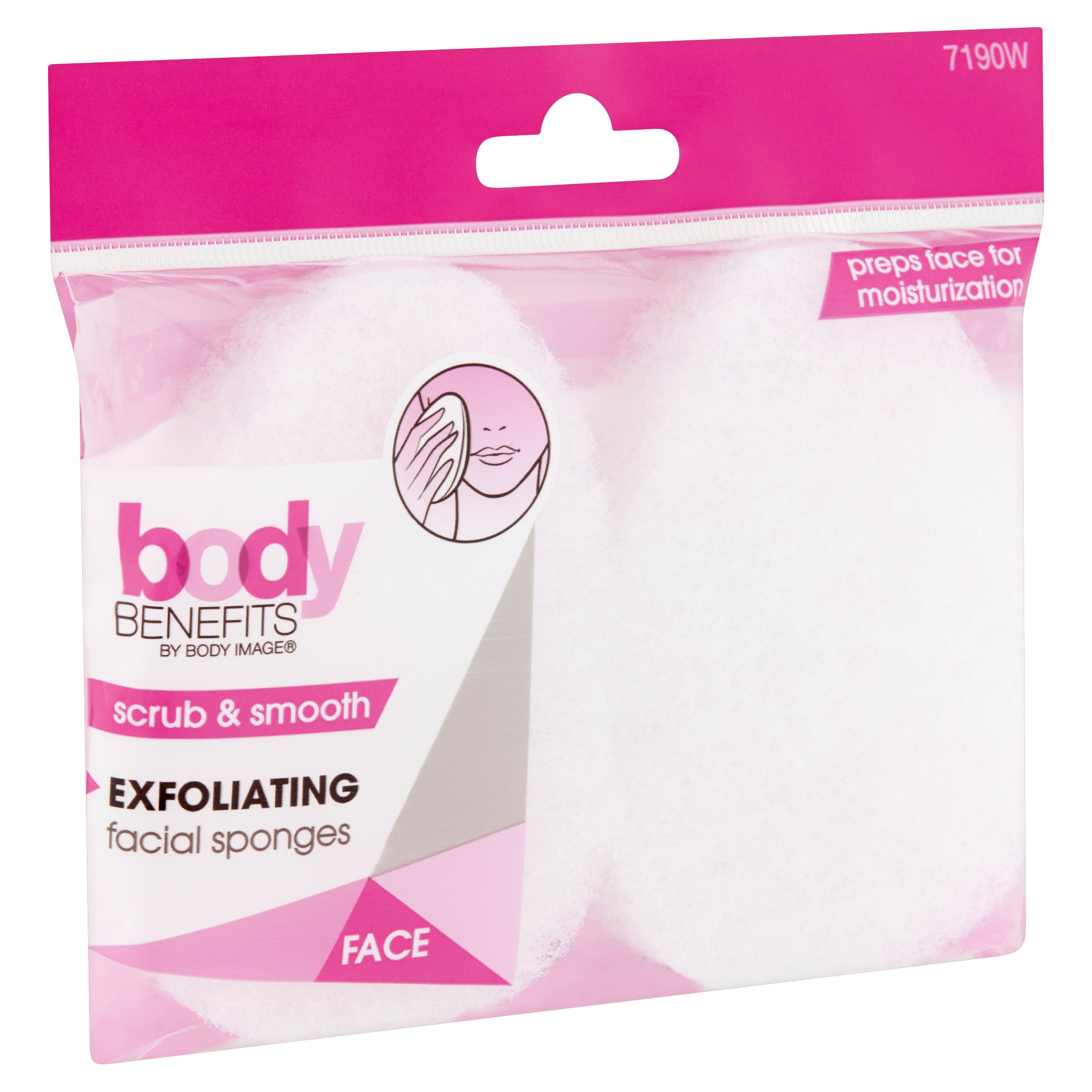 Body Benefits Exfoliating Facial Sponge Walmart Com Walmart Com