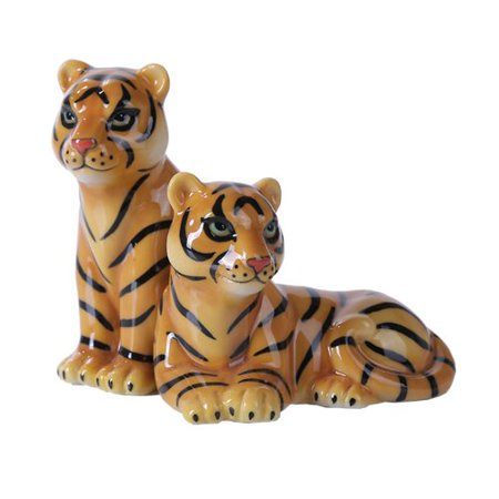 4.75 inches Mr. and Mrs. Tiger Magnetic Salt and Pepper Shaker Kitchen Set (Tigger Salt And Pepper Shakers)