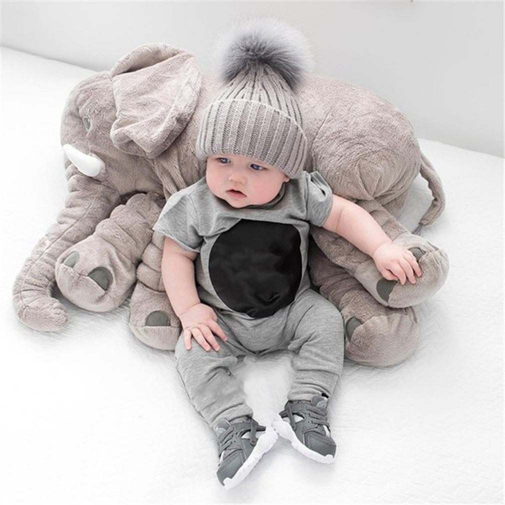 60CM Cute Animal Pillow Elephant Children Soft Plush Toy Doll Baby Kids Birthday Gifts Toy Stuffed For Kids Sleeping Toys