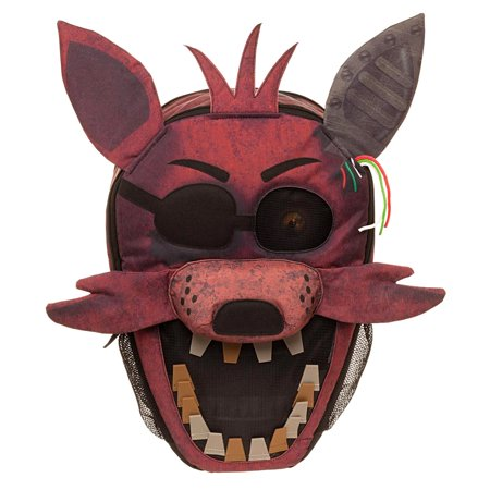 Five Nights at Freddy's 3D Foxy Big Face Backpack (The Best North Face Backpack For School)