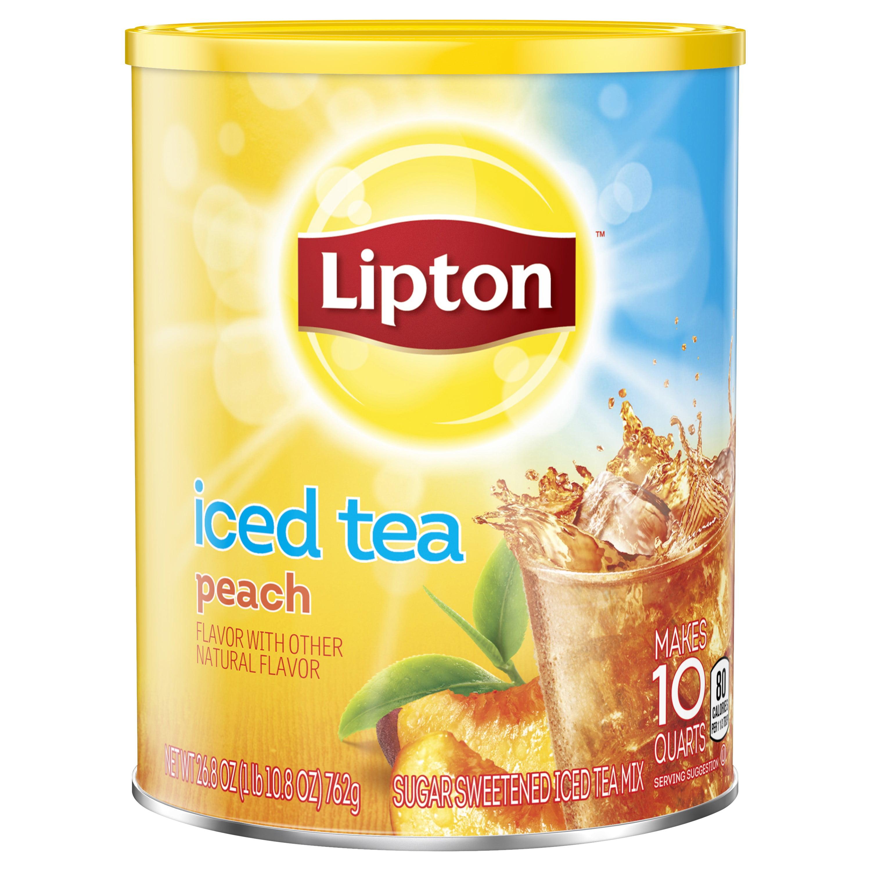 (6 Boxes) Lipton Iced Tea Mix Peach 10 qt