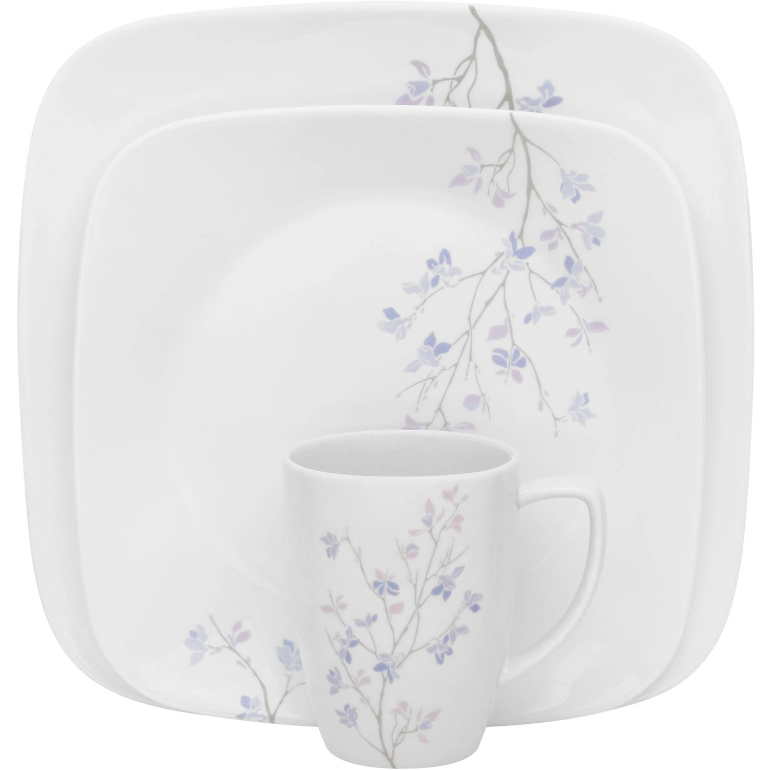 Astounding Corelle Square Dishes Gallery Best Image Engine  sc 1 st  Adobe Title & Corelle Square Round 16 Piece Dinnerware Set Cherry Blossom - Round ...