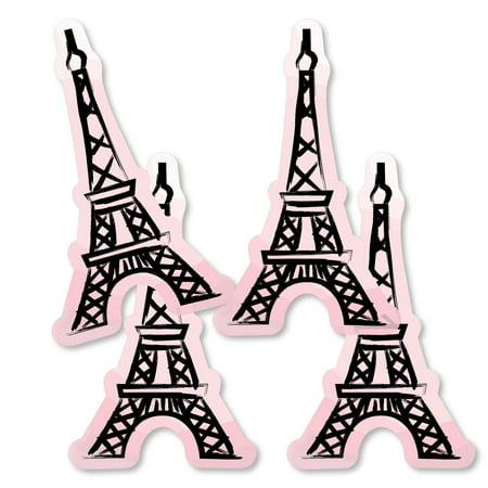 Paris, Ooh La La - Eiffel Tower Decorations DIY Paris Themed Baby Shower or Birthday Party Essentials - Set of 20 (Birthday Paris Theme)