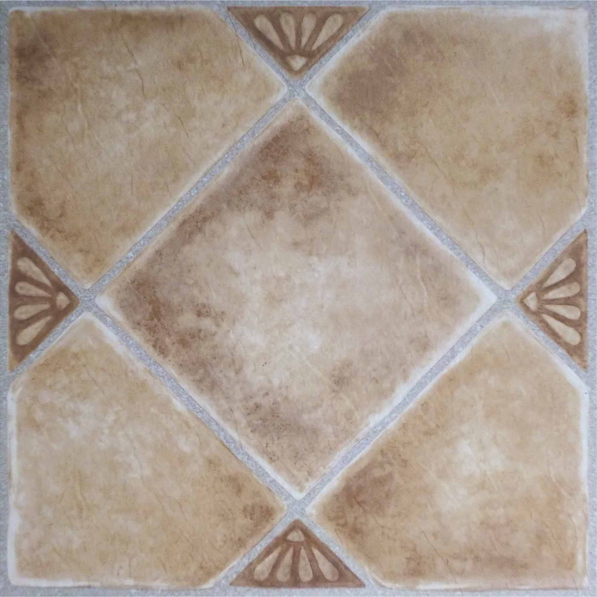 Nexus beige clay diamond with accents 12x12 self adhesive vinyl nexus beige clay diamond with accents 12x12 self adhesive vinyl floor 20 tiles20 sqft walmart dailygadgetfo Image collections