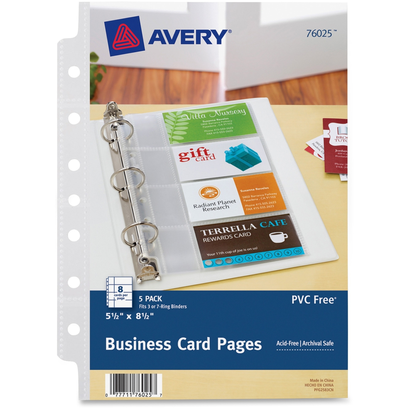 Avery Mini Business Card Page - 8 Card Capacity - 5.50\