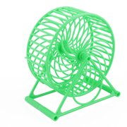 Pet Plastic Round Shaped Hollow Out Hamster Exercise Running Wheel Roller Green