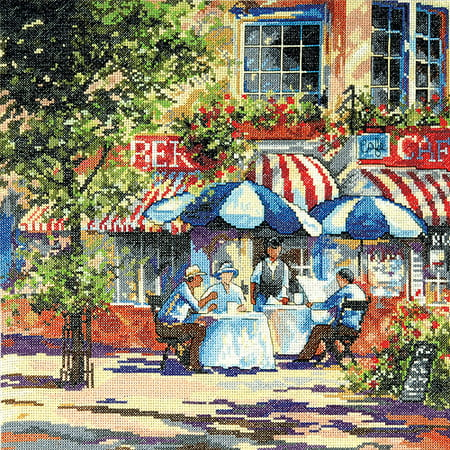 - Cafe In The Sun Counted Cross Stitch Kit, 14