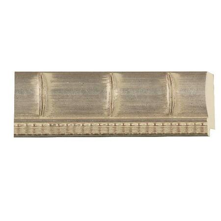 "30.5cm x 61cm (12""x24"") - 12 x 24 Silver Bamboo Solid Wood Frame with UV Framer's Acrylic & Foam Board Backing - Great F - image 2 de 2"