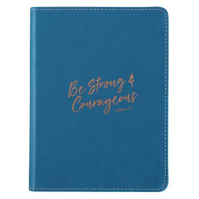 Journal Lux-Leather Flexcover Be Strong & Courageous