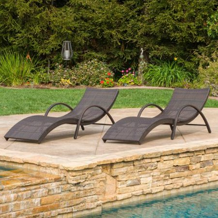 Christopher knight home acapulco outdoor wicker folding for 2 armed chaise lounge