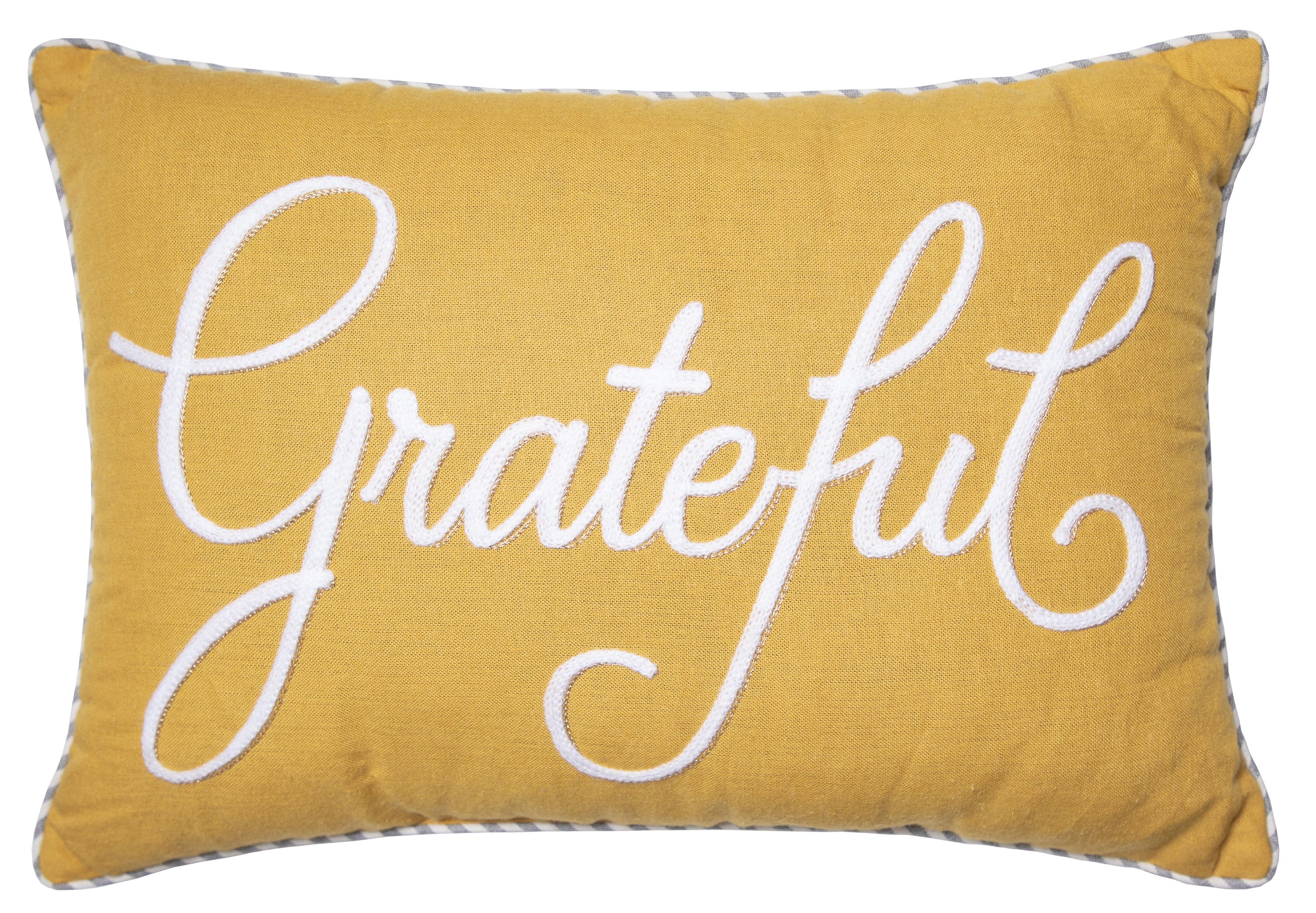 "Mainstays Harvest Words Oblong Decorative Throw Pillow, 14"" x 20"", Yellow"