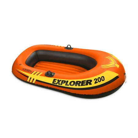 Intex Explorer 200 Inflatable 2 Person Capacity Pool & Lake Fishing Raft Boat