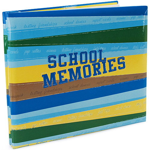 School Memories Postbound Album 12''X12'', Blue/Green