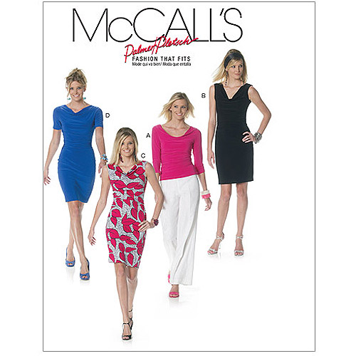 McCall's Pattern Misses' Lined Top and Dresses, BB (8, 10, 12, 14)