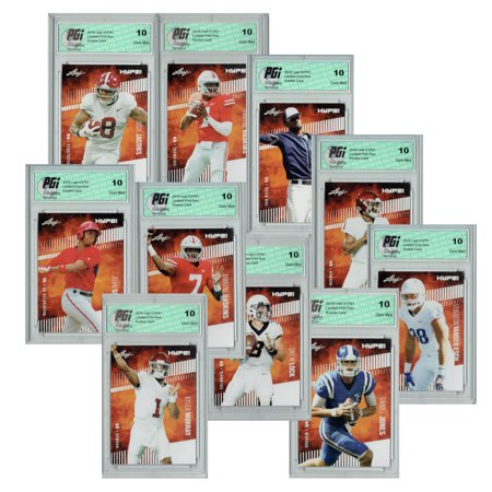 Leaf Hype 2019 MLB & NFL 10 Ct Rookie Card Bundle Only 5000 Made PGI (2019 Leaf Best Of Baseball)