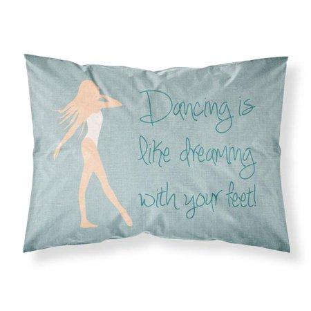Carolines Treasures BB5379PILLOWCASE Dancing is Like Dreaming Fabric Standard Pillowcase - image 1 of 1