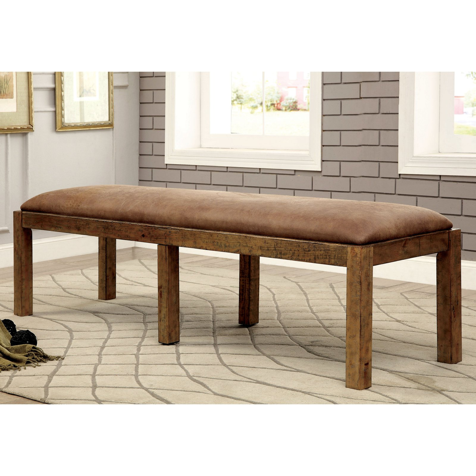 Furniture of America Camen Dining Bench