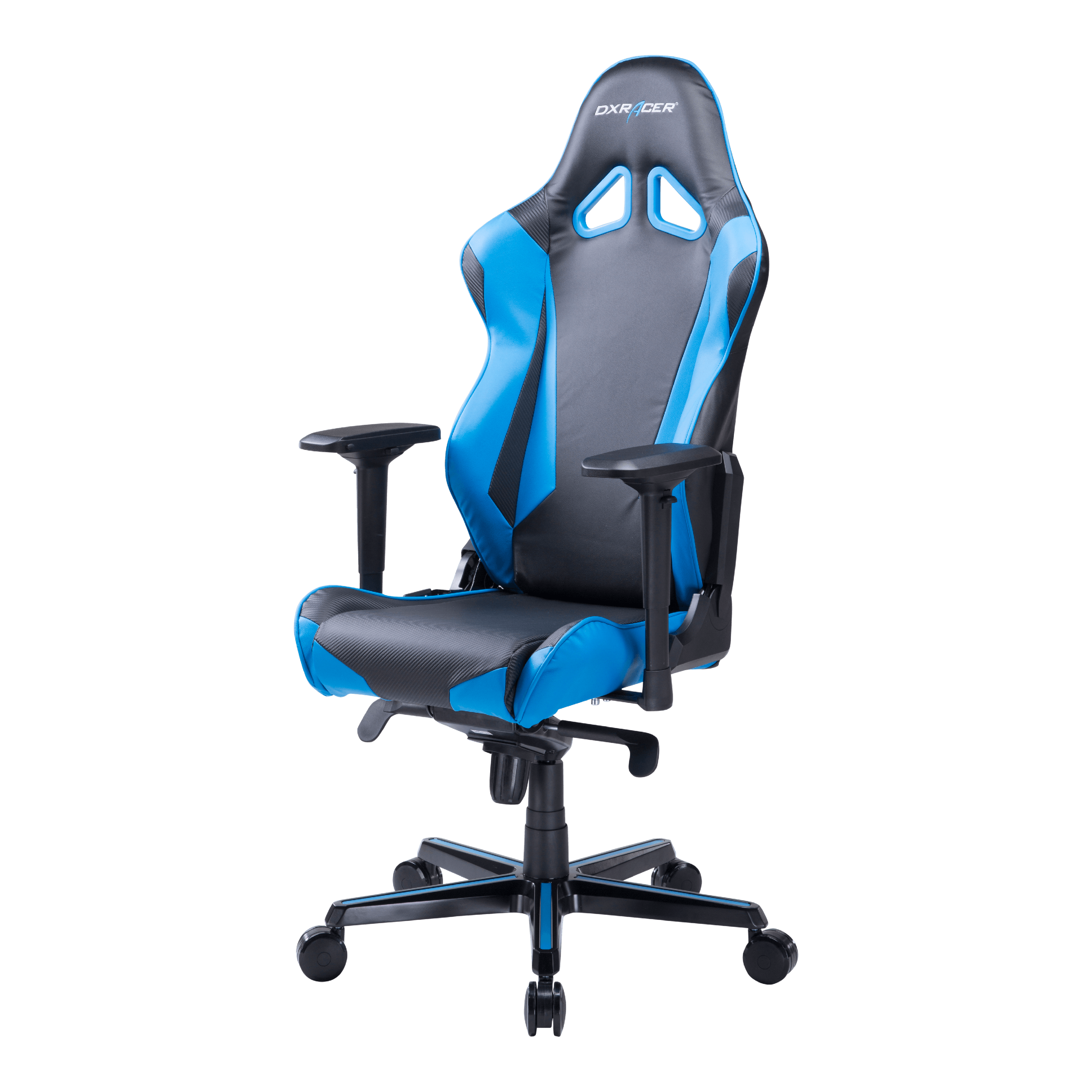 DXRacer Racing Series Black and Blue - OH/RV001/NB - Ergonomic, High Back, Reclining, Gaming  E-Sports  Office Chair