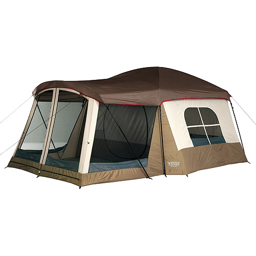 Wenzel 16u0027x11u0027 Klondike 8 Person 3 Season Screen Room C&ing Tent Blue  sc 1 st  Walmart & Wenzel 16u0027x11u0027 Klondike 8 Person 3 Season Screen Room Camping Tent ...