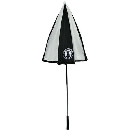 DrizzleStik Drape- Golf Gear Umbrella (Black/White)