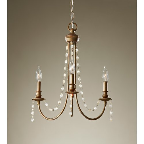 Feiss Aura F2713 / 3RUS Chandelier - 19W in. - Rustic Silver