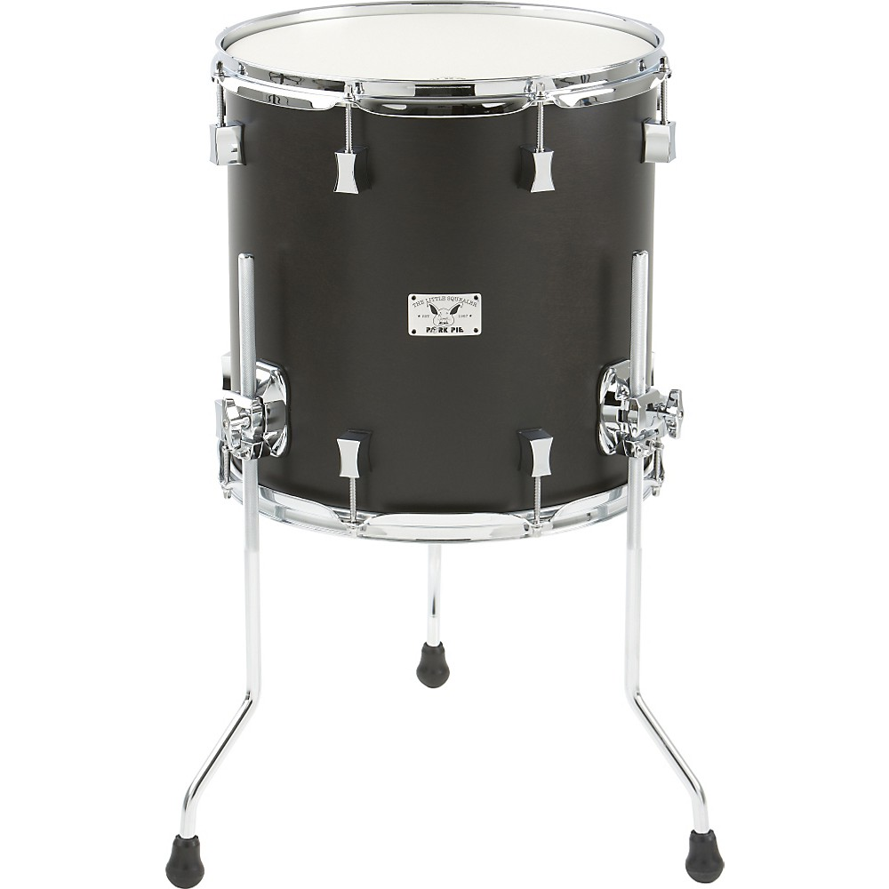 Pork Pie Little Squealer Birch   Mahogany Floor Tom 14 x 14 in. Black Satin by Pork Pie