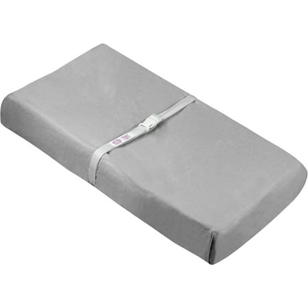 Ben and Noa Fitted Change Pad Sheet with Slits for Safety Straps Flannel, Grey Solid