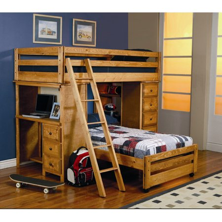 Wildon Home Enchanted Twin Over Twin L Shaped Bunk Bed With Storage