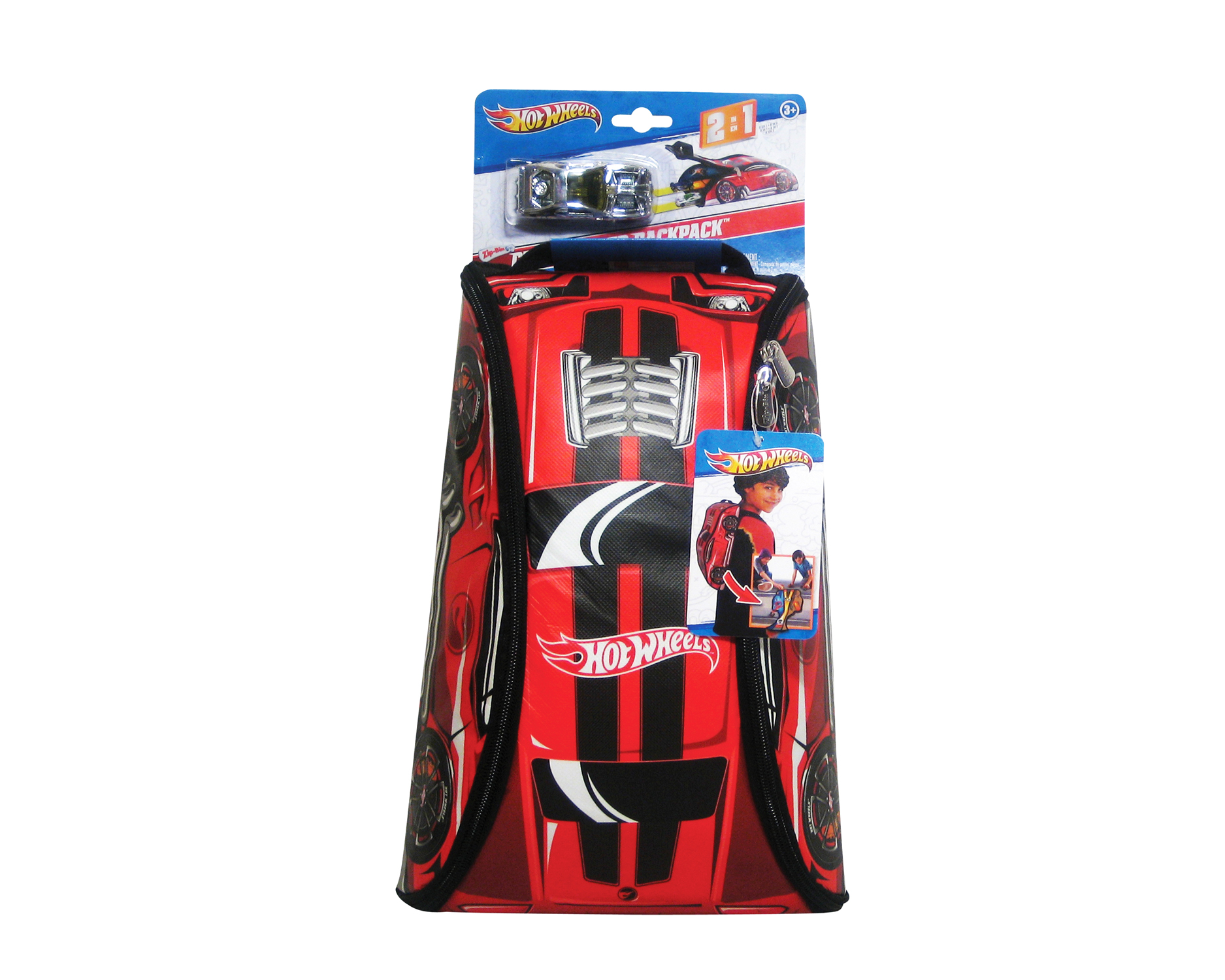 Neat-Oh! Hot Wheels ZipBin 45 Car Crash Red Racer Backpack w  Car by Neat-Oh