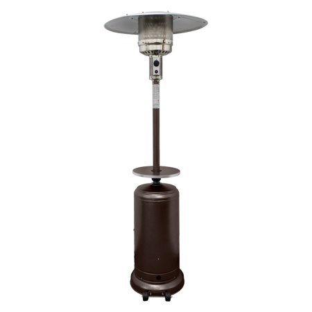 Hiland Tall Hammered Bronze Patio Heater with Table ()