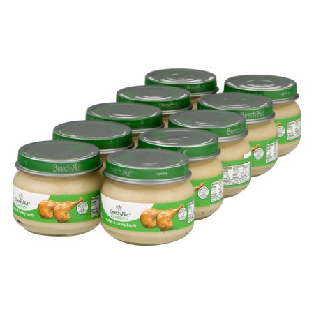 (10 Count) Beech-Nut Classics Turkey & Turkey Broth Baby Food Stage 1 from About 4 Months, 2.5 (Best Baby Food To Start Out With)